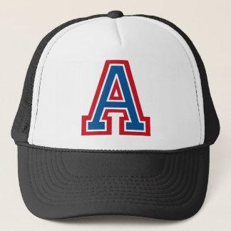 Letter 'A' Monogram Trucker Hat