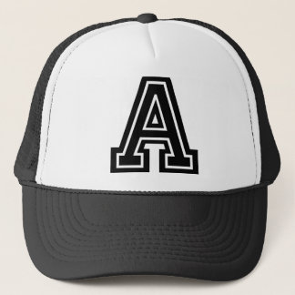 "Letter ""A"" Monogram Trucker Hat"