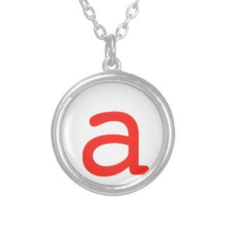Letter A Necklaces