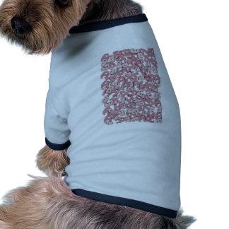 Letter A Pink Ringer Dog Shirt