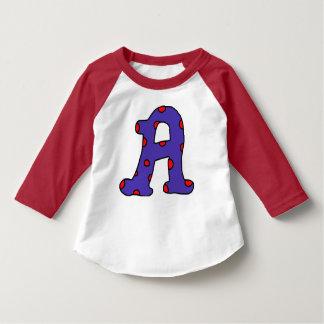 Letter A polka dot shirt