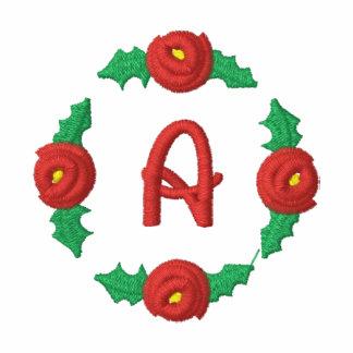 Letter A Rosebud Monogram Embroidered Shirt