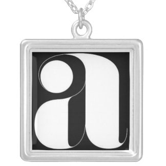 Letter A Sterling Silver Necklace
