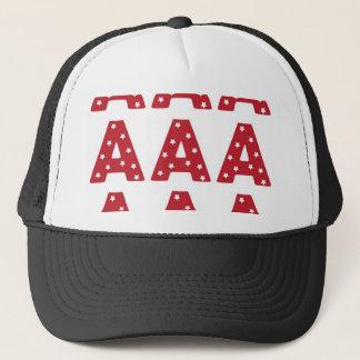 Letter A - White Stars on Dark Red Trucker Hat