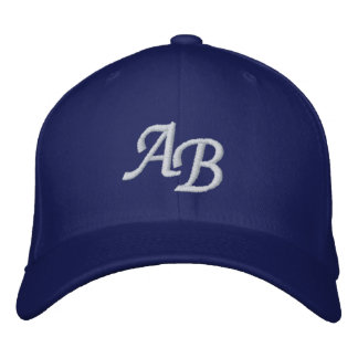 Letter AB- Embroidered Hats