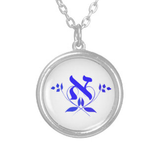 Letter Alef With Flower Necklace