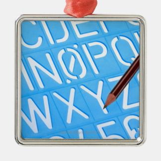 Letter and number template christmas ornament