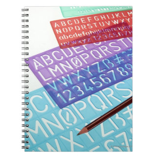 Letter and number templates notebook