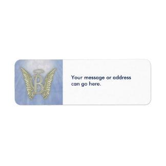 Letter B Angel Monogram