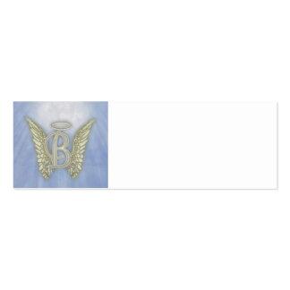 Letter B Angel Monogram Pack Of Skinny Business Cards