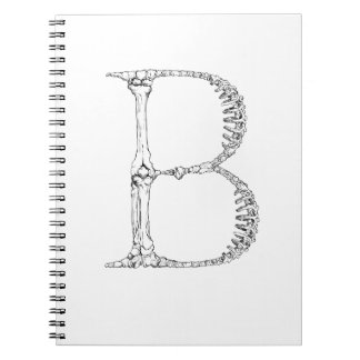 Letter B Bone Initial Notebook