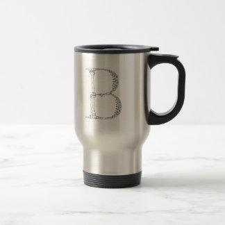 Letter B Bone Initial Travel Mug