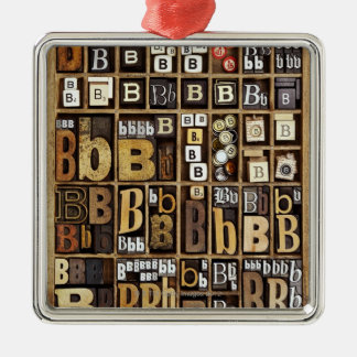 Letter B Christmas Ornament