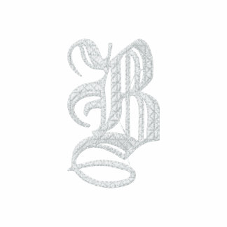 Letter B Fancy Monogram Embroidered Shirt