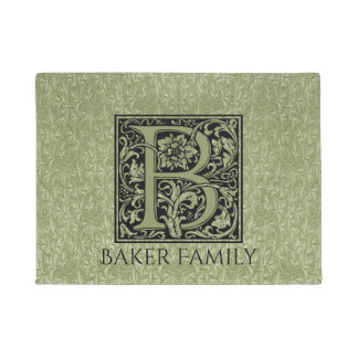 Letter B First Letter Monogram Personalized Doormat
