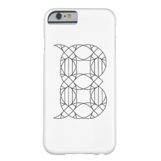Letter B, Geometric Typography, White & Black – Barely There iPhone 6 Case
