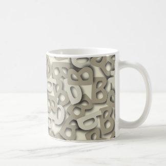 Letter B Gray Mug
