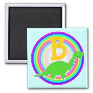 Letter B Green Dinosaur Diplodocus Fridge Magnet