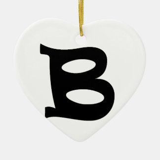 Letter B_large Christmas Ornament