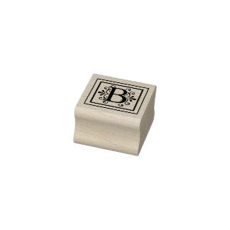 Letter B Monogram Rubber Stamp