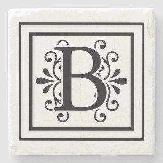 Letter B Monogram Stone Coasters Stone Beverage Coaster