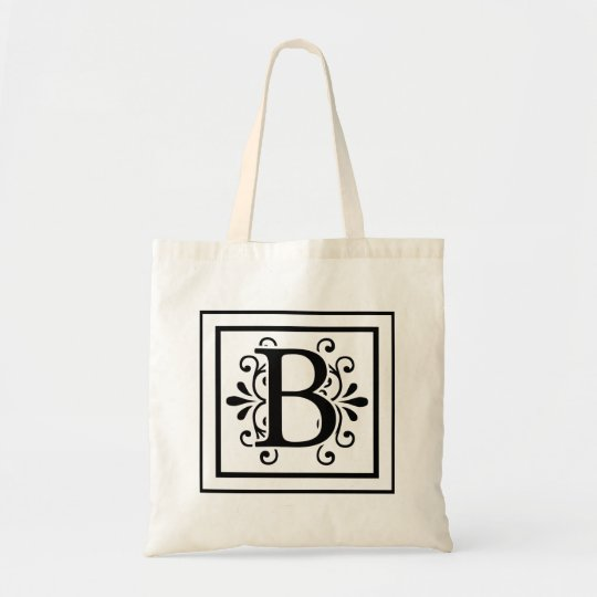 Letter B Monogram Tote Bag