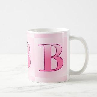 Letter B pink Basic White Mug