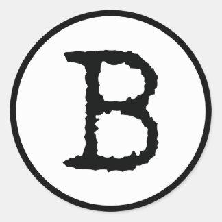 Letter B Round Sticker
