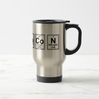 Letter Bacon Tiles Travel Mug