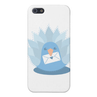 Letter Bird peacock with mail iPhone 5 Covers