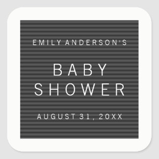 Letter Board Baby Shower Square Sticker
