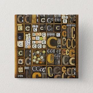 Letter C 15 Cm Square Badge
