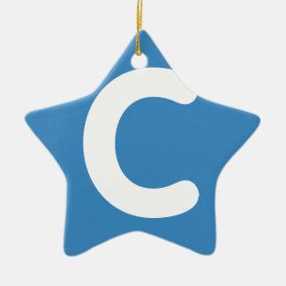 Letter C emoji Twitter Christmas Ornament