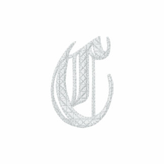 Letter C Fancy Monogram Embroidered Shirt