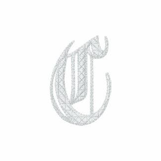 Letter C Fancy Monogram Embroidered Shirt