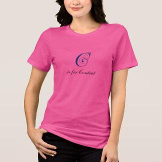 Letter C flourish content T-Shirt