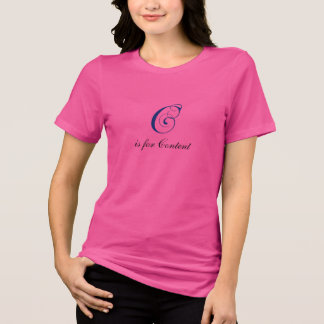 Letter C flourish content T Shirts