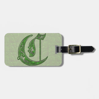 Letter C Luggage Tag