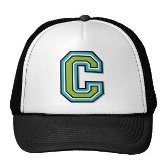 """Letter """"C"""" Monogram Mesh Hats"""
