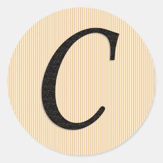 Monogram letter c stickers zazzlecouk for Letter c stickers