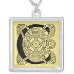 Letter C Vintage Celtic Knot Monogram Pendants