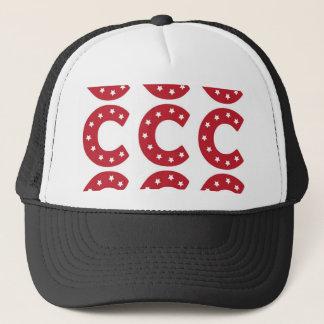 Letter C - White Stars on Dark Red Trucker Hat