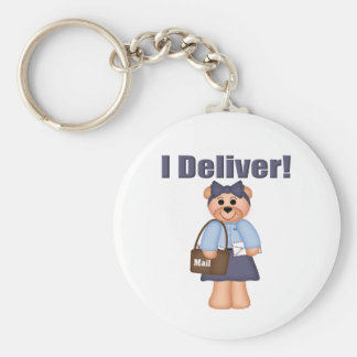 Letter Carrier Basic Round Button Key Ring