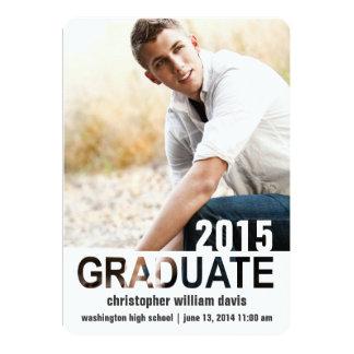 Letter Cut-Outs Photo Graduation Announcement