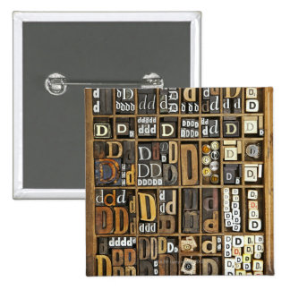 Letter D 15 Cm Square Badge