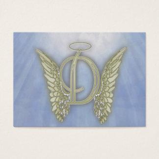 Letter D Angel Monogram Business Card