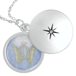 Letter D Angel Monogram Necklace