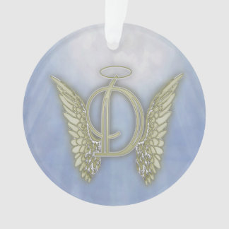 Letter D Angel Monogram Ornament