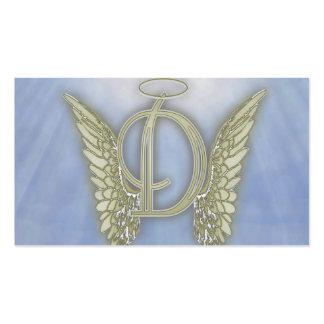 Letter D Angel Monogram Pack Of Standard Business Cards