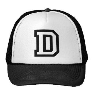 Letter D Trucker Hats